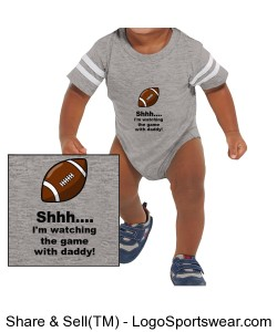 "Baby Onesie ""Shhh....I\'m watching the game with daddy!\"" Design Zoom"