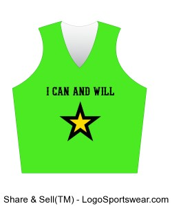 "Sports Tank for Him or Her - ""I Can and Will"" with Star Image Design Zoom"