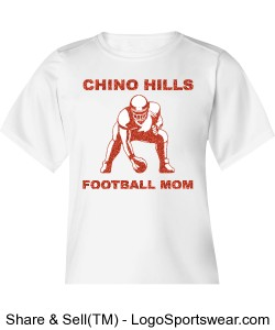 Chino Hills Football Mom Youth B-Dry Core Tee from Badger Design Zoom